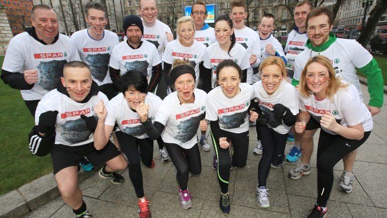 City Hall SPAR Craic 10K. pictured: the team from Spar 1703JC15